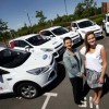 Donella Casey, Fleet, Supply and Distribution Manager with Ford Ireland; and Lauren O'Flaherty of Molson Canadian Ireland and some of the Ford Kuga fleet