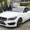 Our picture shows Mercedes-Benz chief executive Stephen Byrne and sales manager Ciaran Allen pictured with the new Mercedes-Benz CLA.