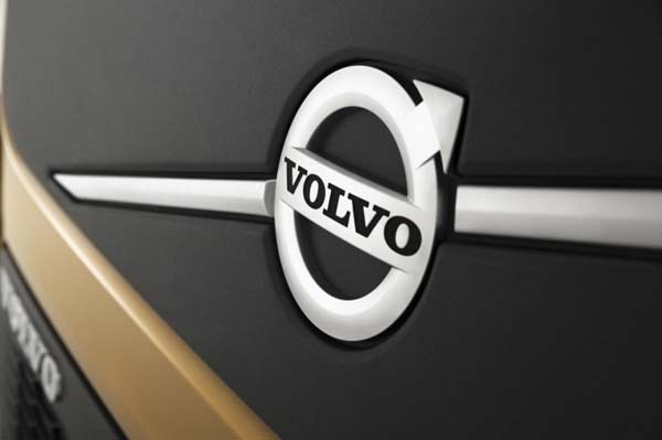 Volvo badge on truck