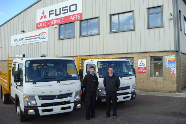 Pictured L-R: Tim Cronin, FUSO Ireland and Michael O'Dwyer, Walker Vehicles Cork.