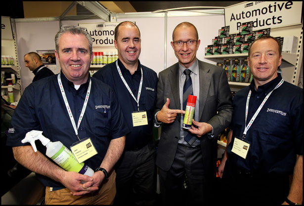 ary Connole, Ger Mc Carthy, Guy Janssen and Ollie Dunne on the Innovation Ireland Stand at The Auto Trade Expo at CityWest Hotel.