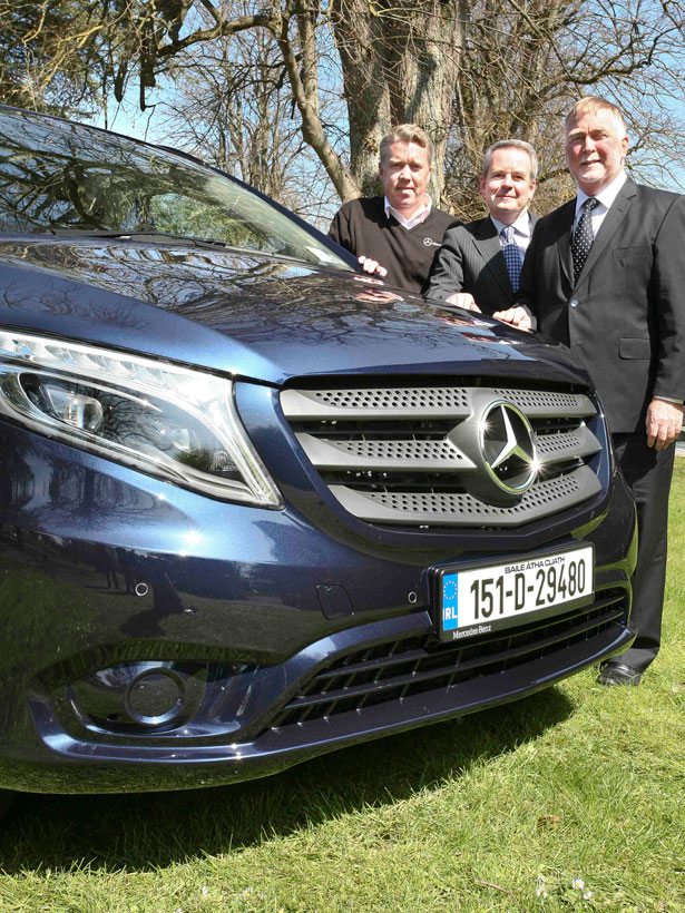 Pictured at the launch were (left to right) Jim Fitzpatrick, Declan Glynn and John Connolly from MUTEC, Naas Road.
