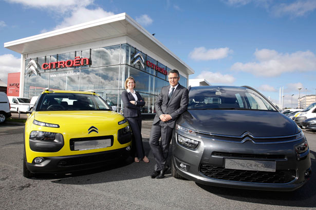 Pictured at Citroën Motors Ireland Head Office, Airside Motor Park, Swords is Pedro Regalado and Louise Murphy.