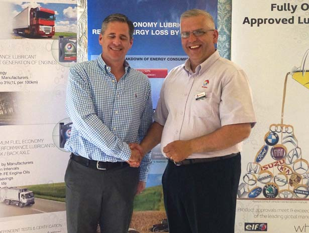 4th Prize: Mark Edwards, Atlas Group, with Dave Chase, Finol Oils