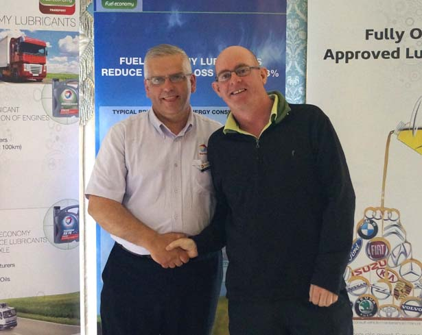 8th Prize: Dave Walsh, Murrough Machinery, with Dave Chase, Finol Oils