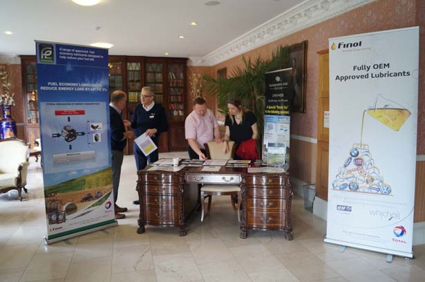 Finol Staff: Joe Warren, Aidan Daly, Damien Meehan and Martha Purcell, getting ready to register everyone for the golf day