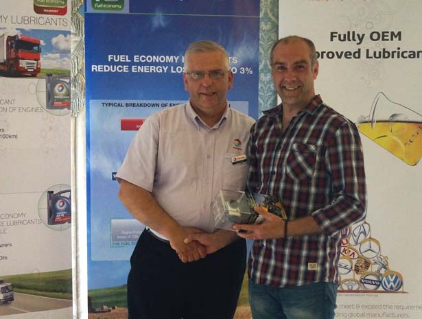 Longest Drive: Clive Kelly, FJS Repairs, with Dave Chase, Finol Oils