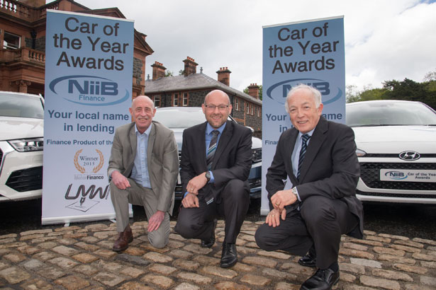 Pictured at the launch of the awards at Cultra Manor where the awards will be held later this year are:  Paul Flowers, Editor and Motoring Correspondent, Spectator Newspapers; James Dempster, Regional Manager NIIB Finance and Jim McCauley, Chairman, Ulster Motoring Writers Association.