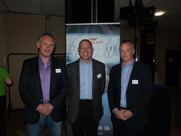 Pictured L to R: Patrick Weckx Belron Technical Support Manager, Dr Chris Davis Head of Technical Superiority, Belron Technical, Eddie Irving Sales Director,