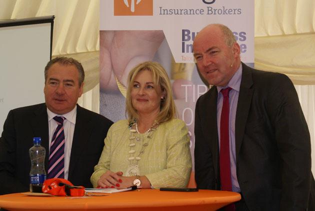 Tony Wright, CEO, Wright Insurance, Verona Murphy, President Irish Road Haulage Association, John Kearney, Cavan-Monaghan Education Training Board