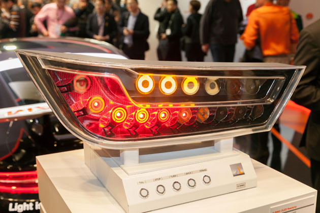 LED/OLED rear light demonstrator