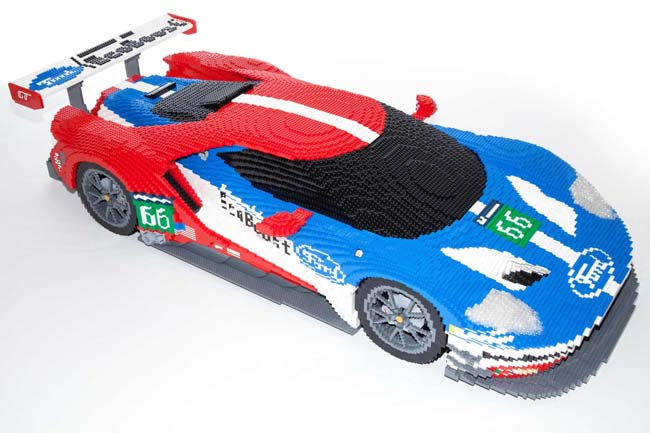 Ford Lego Car at Le Mans 24 Hour Race