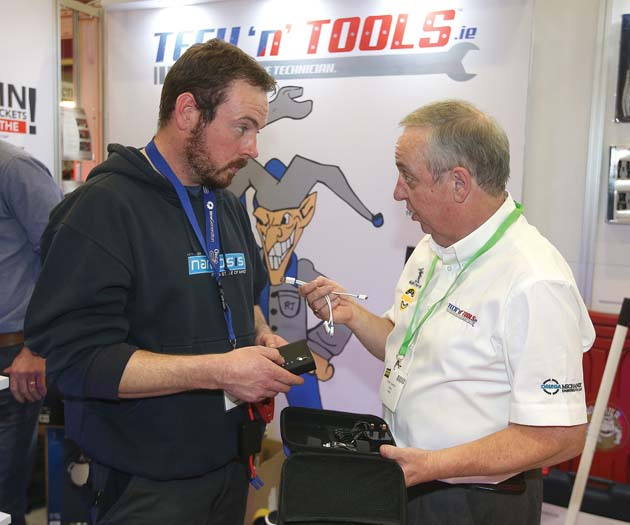 Gerry Flaherty, Tech'n' Tools speaks to Geared Keller, Hinch Plant Hire, Mountmellick, Laois at Auto Trade EXPO 2015.