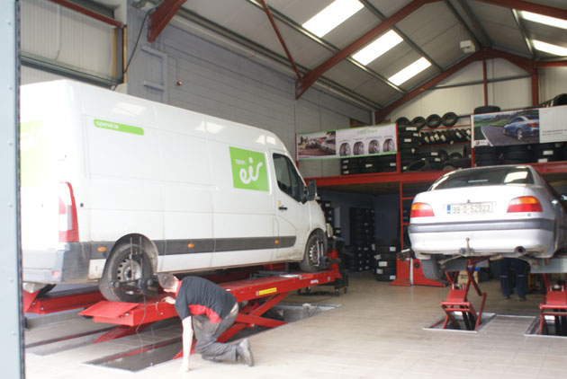 Gills First Stop has two fully equipped tyre service bays