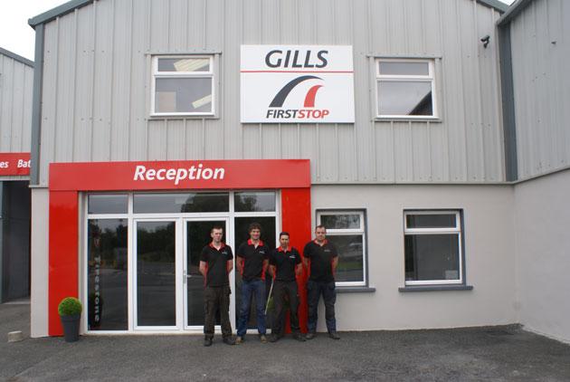 The Gills First Stop team: (L-R) Shane Clarke, Vincent (Junior) Gill, Gerry Gill, Eoin McCaffrey.