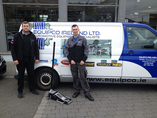 Killian McNabb, Equipco presents, Alex O'Donoghue, Tallaght, Dublin with a SIP 2.5 ton quick lift racing trolley, worth €250.