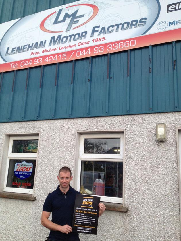 Richie Lenehan, Lenehan Motor Factors, Mullingar