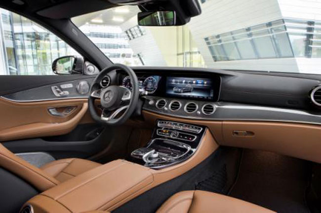 Interior of Mercedes-Benz E-Class AMG-Line.